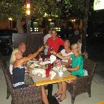 Having dinner with friends in RED restaurant, Rhodes