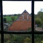 The listed barn from the twin room window