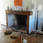Madeline room: second floor, fire place