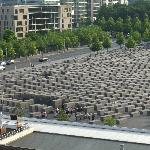 View of Jewish Memorial from balcony