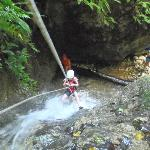 Water rappelling at El Remanso
