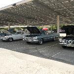 1963 Chevy Impalas on display.
