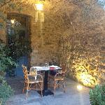 dineren ´s avonds op de patio