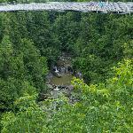 The Suspension Bridge over the Coaticook River Gorge.