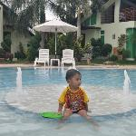 my 2 year old son enjoying the 2 ft. pool