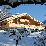 View of the chalet in winter
