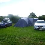 Generous camping pitches