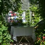 One of the several nooks in the garden....perfect for a quiet place for your morning coffee