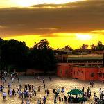 Sun set in the square