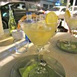 Lemon sorbet, served in sparkling wine