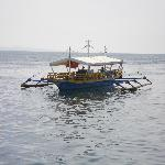 A privately hired bangka