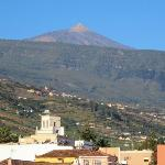 Teide over La Orotava from the La Palma Room.