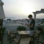 Rooftop terrace of Oniro studios Naxos