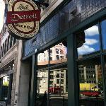 Detroit Beer Company front entrance. Detroit, MI