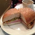 great muffuletta taste and bread help makes this one not to miss in NOLA , Mary's Bloody Mary i