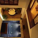 Pool and lounge/dining/bar area at La Casa del Agua
