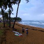 Local surfers beach