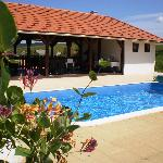 Pool and pavilion