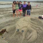 Sandcastle competition on Primel beach