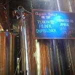 Organic beers on tap