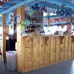 Upper level snack bar