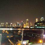 Jakart skyline at night from the Resident Lounge