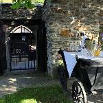 Sektempfang auf der Burgwiese mit Rheinblick