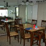 The dining room (mirrored walls)