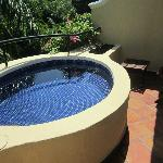 Our plunge pool on our balcony
