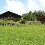 Silvi's BnB; main house on left and sauna on right