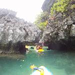 Tour of Small Lagoon on kayaks