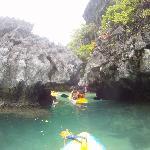 Tour of Small Lagoon on kayaks