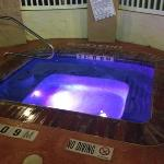hot tub so lovely after the beach