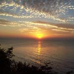 Beautiful sunrise on Lake Michigan in July