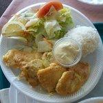 Mahi mahi plate lunch.