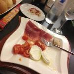 Cena con prosciutto crudo e mozzarella (+ snack)