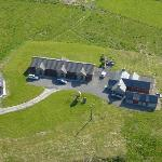 Aerial view of Buxa Farm Chalets and Croft House