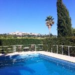 pool with view to st Paul de Vence