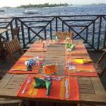 at the edge of Malé Island - #SeaHouseDeck