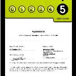 5 on the door hygiene score