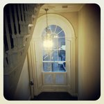 up the stairs to the period rooms