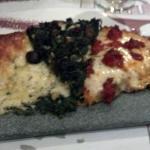 3 porciones de pizza.