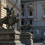 Adjacent piazza sculpture