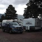 Picture of our truck and trailer at Black Bars