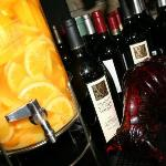 Wine: We offer an extensive variety of wines.