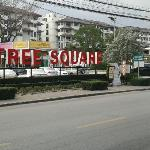 located inside of Tree Square plaza