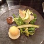 Asparagus with quail's egg