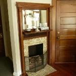 Bridal suite fireplace