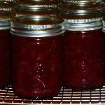 Local Strawberries canned & ready for waffles in the wintertime.