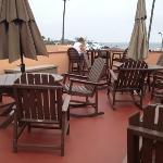 sun terrace with lovely views of the marina and the seafront
